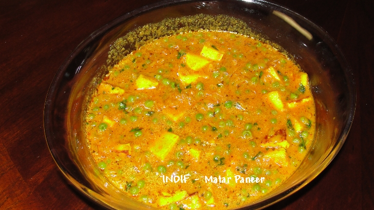 Matar Paneer - Peas and Cottage Cheese