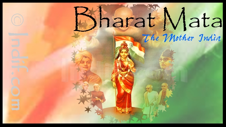 Bharat Mata - The mother of India - by Indif.com