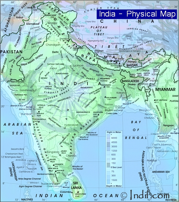 Map of India Political Map of India Physcical Map of India
