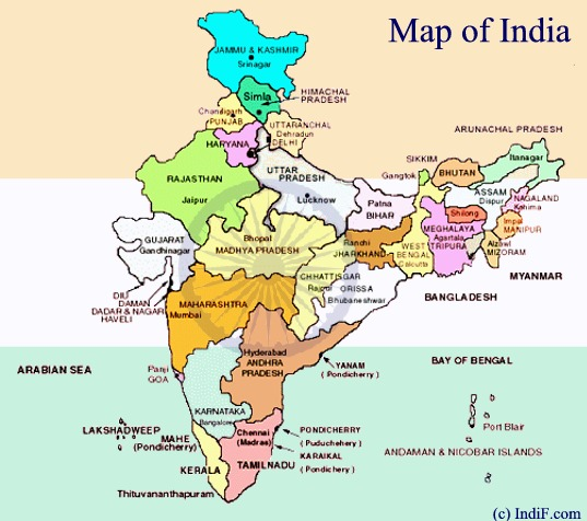 Map of India ~ Political Map of India | Physcical Map of India ...