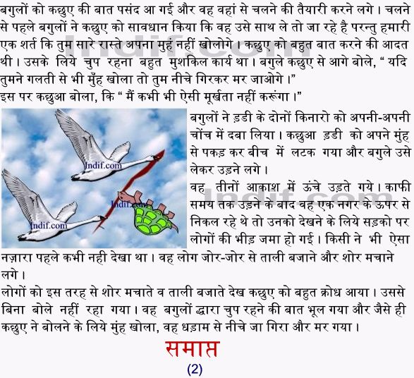 Moorkh Kachua - A TORTOISE and TWO GEESE - Panchatantra story in hindi