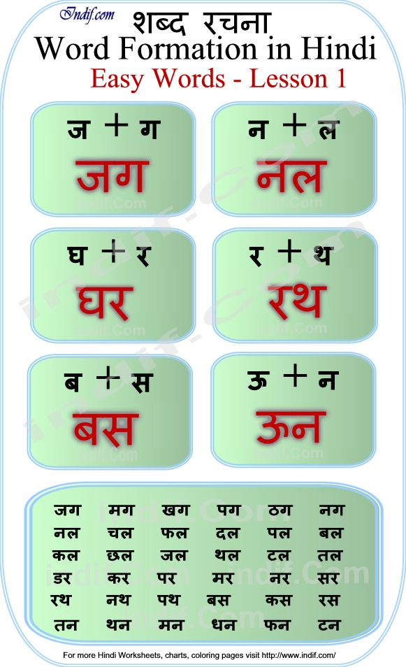 read hindi 2 letter words
