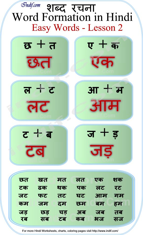 Learn To Read 2 Letter Hindi Words Lesson 2