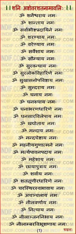 108 NAmes of Shani Dev