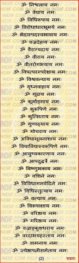 108 Names of Shani
