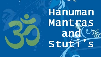 Shree Hanuman mantras and Shlokas