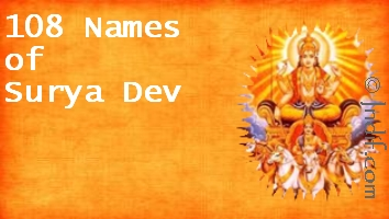 108 Names of God Surya