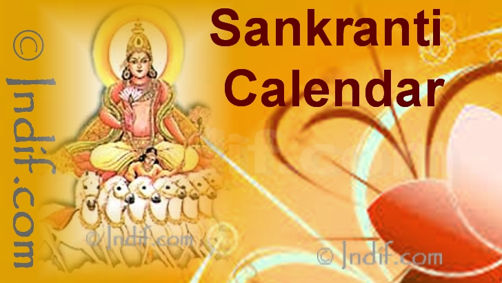Sankranti Calender 2019 , Sankranti Dates 2019 , The Twelve