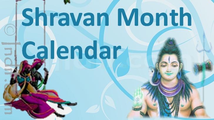 Shravan Month Calendar 2018 - Sawan Mass Panchang 2018